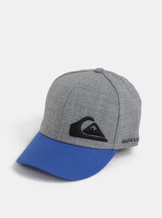 Modro-šedá klučičí kšiltovka s příměsí vlny Quiksilver