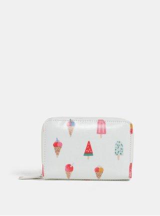 Biela peňaženka s motívom nanukov Cath Kidston