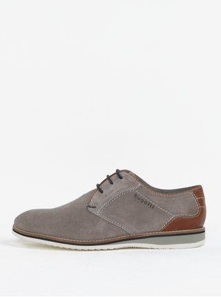 Pantofi gri din piele intoarsa pentru barbati - bugatti Conte