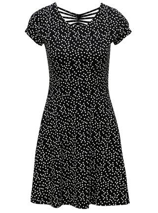 Čierno-biele bodkované šaty s krátkym rukávom TALLY WEiJL