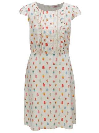Krémové šaty s motivem nanuků Cath Kidston