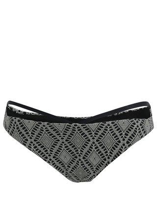Krémovo-černý dámský vzorovaný spodní díl plavek Rip Curl