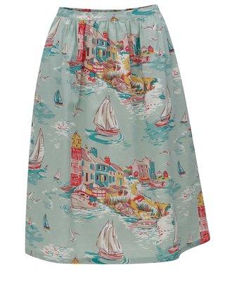 Svetlozelená dámska vzorovaná sukňa Cath Kidston