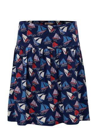 Tmavomodrá sukňa s motívom plachetníc Cath Kidston