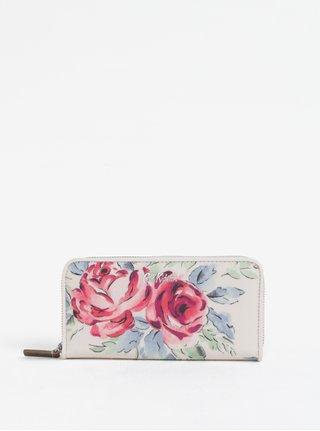 Krémová peňaženka s motívom kvetov Cath Kidston
