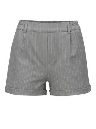 Pantaloni scurti gri deschis in dungi TALLY WEiJL