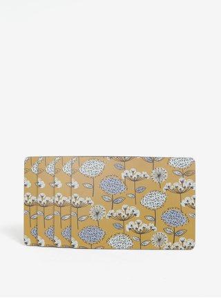 Set de patru naproane mustar cu motiv floral Cooksmart