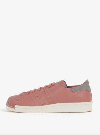 Tenisi de dama roz prafuit din piele adidas Originals Superstar