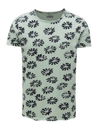 Světle zelené květované tričko Dstrezzed