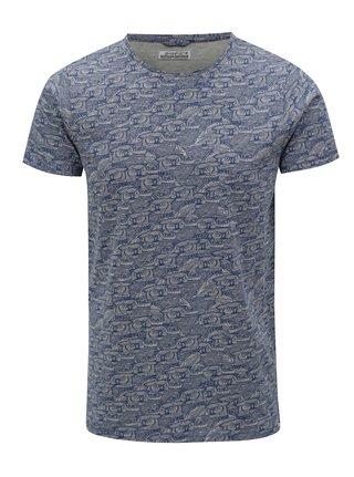 Sivo-modré vzorované tričko Dstrezzed