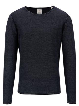 Tmavomodrý pruhovaný tenký sveter Dstrezzed