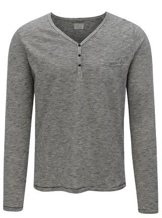 Krémovo-modré pruhované tričko Dstrezzed