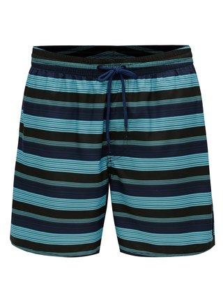 Modré pánské pruhované plavky O'Neill Bondi