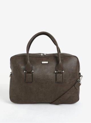 Hnedá koženková taška Bobby Black
