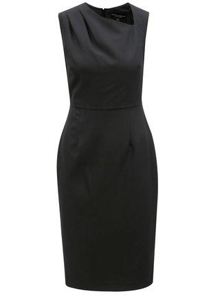 Čierne puzdrové šaty s asymetrickým výstrihom Dorothy Perkins