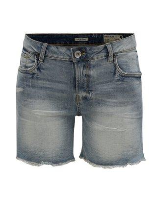 Modré dámské džínové slim fit kraťasy s nízkým pasem Garcia Jeans Rachelle