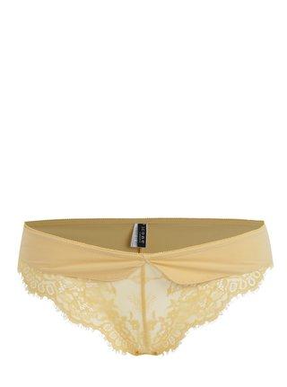 Žlté nohavičky s čipkou ICÔNE Ambre
