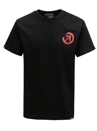 Čierne pánske tričko s potlačou na chrbte MEATFLY Bruce