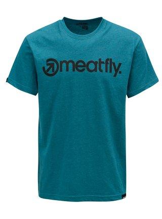 Petrolejové pánske tričko MEATFLY Logo