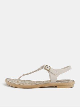 Krémové vzorované sandále Grendha Romantic