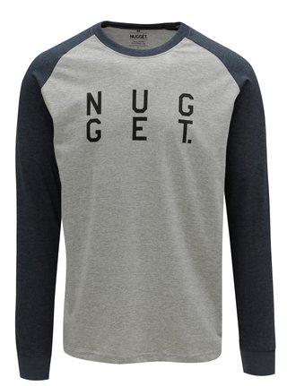 Tricou albastru-gri cu print pentru barbati - NUGGET Complex