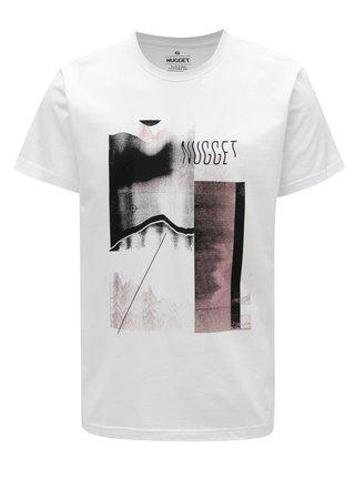Tricou alb pentru barbati - NUGGET Polymorph