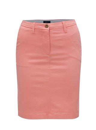 Růžová sukně s kapsami GANT