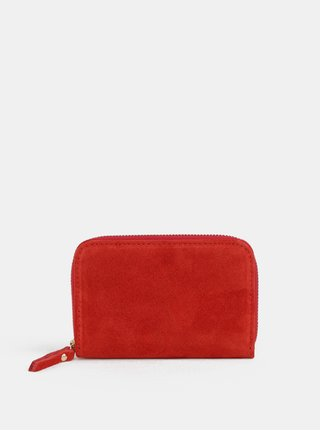 Červená malá semišová peňaženka ZOOT