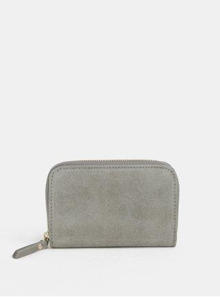Sivá semišová malá peňaženka ZOOT