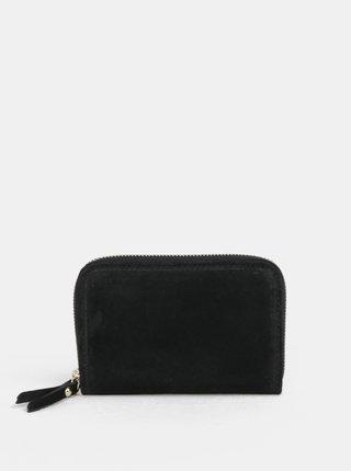 Čierna semišová malá peňaženka ZOOT