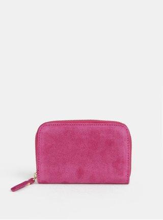 Růžová semišová malá peněženka ZOOT