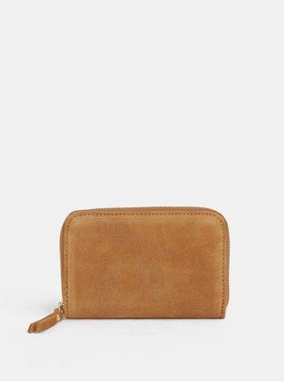 Hnedá semišová malá peňaženka ZOOT