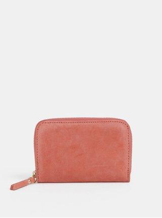 Korálová semišová malá peňaženka ZOOT