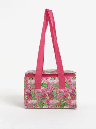 Růžová malá termo taška s motivem plameňáků SIFCON