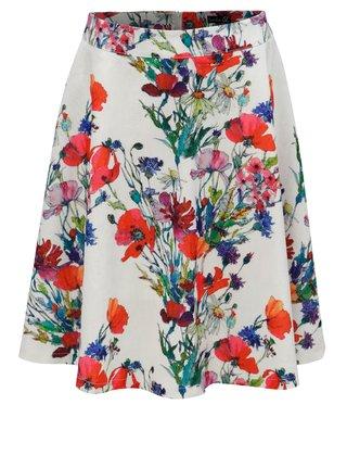 Červeno-biela kvetovaná sukňa Smashed Lemon