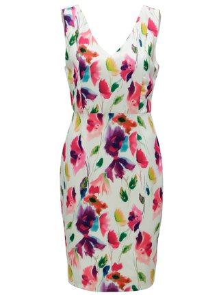 Ružovo-zelené šaty s véčkovým výstrihom na chrbte Smashed Lemon
