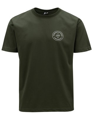 4d5245e9f97 Tmavě zelené pánské tričko s potiskem Horsefeathers Five
