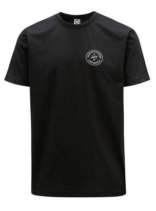 Čierne pánske tričko s potlačou Horsefeathers Five
