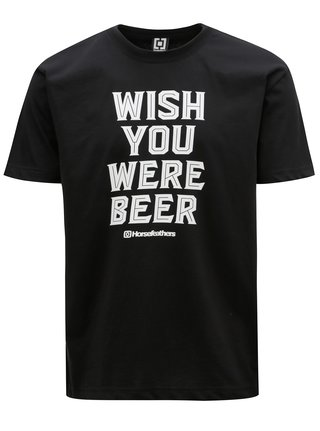 Tricou negru cu print pentru barbati - Horsefeathers Prayer