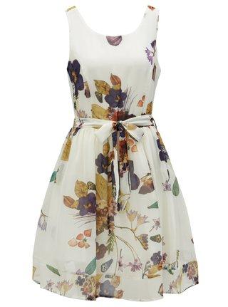 Krémové kvetované šaty Smashed Lemon