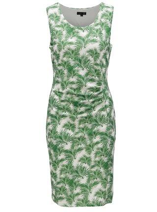 Krémovo-zelené puzdrové vzorované šaty Smashed Lemon