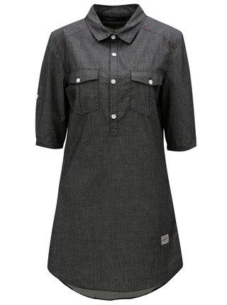 Rochie camasa gri inchis cu model cu buline - Horsefeathers Bess