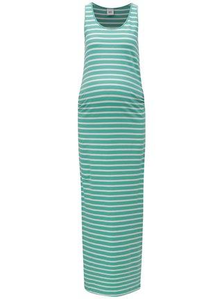 Rochie maxi verde in dungi pentru femei insarcinate - Mama.licious Lea