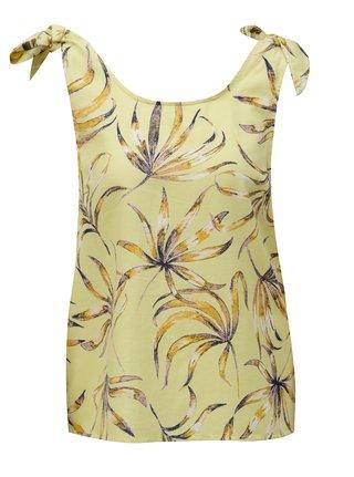Bluza lejera galben cu model floral - VILA Iris