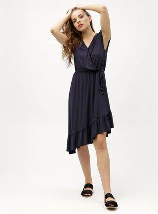 Tmavě modré asymetrické šaty VERO MODA Gloria