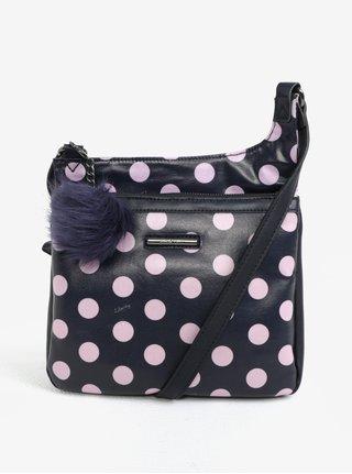 Ružovo-modrá bodkovaná crossbody kabelka Liberty by Gionni Carmen 3231acbf380