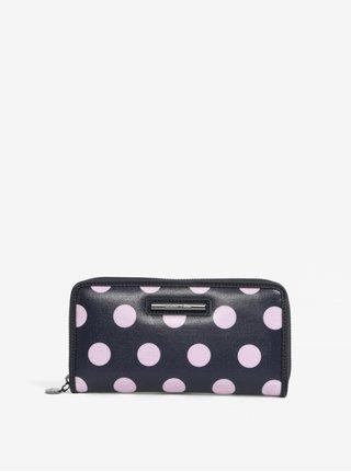 Ružovo-modrá bodkovaná veľká peňaženka Liberty by Gionni Carmen