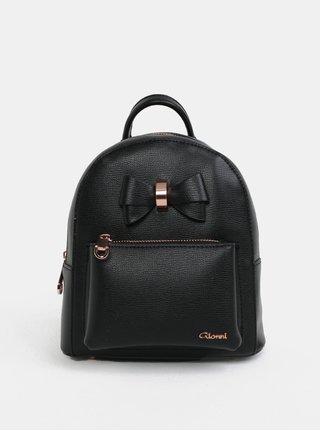 Černý malý batoh s mašlí Gionni Avril