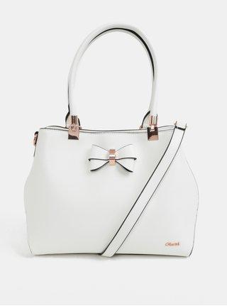 Biela kabelka s mašľou Gionni Avril