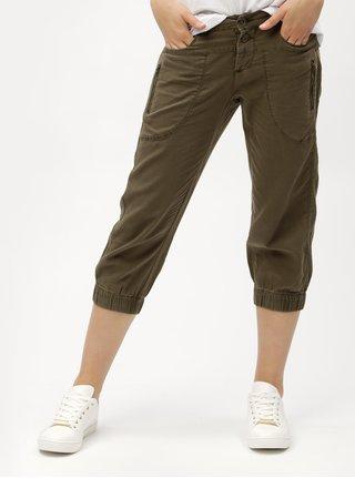 Pantaloni 3/4 kaki din in cu buzunare VERO MODA Connie